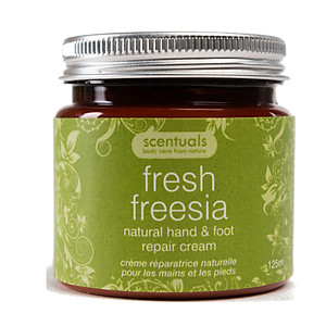 Kem Dưỡng Tay Chân Hoa Lan Fresh Freesia Natural Hand & Foot Repair Cream Scentuals (125ml) [QC-Tiki]