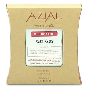 Muối Tắm 100% Thiên Nhiên Tinh Dầu Cam Bergamot Và Bạch Đàn Chanh AZIAL Bath Salts Cleansing 1000g [QC-Tiki]