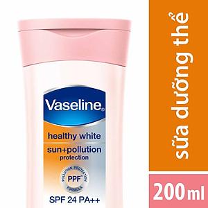 Sữa Dưỡng Thể Trắng Da Chống Nắng Và Ô Nhiễm Môi Trường Vaseline SPF 24 PA ++ (200ml) [QC-Tiki]