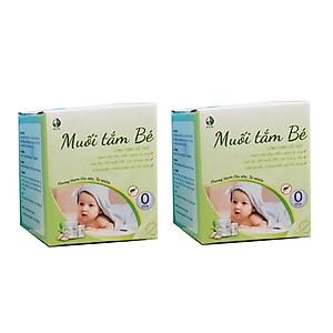 Hai hộp Muối Tắm bé - Chiết suất từ dược liệu thiên nhiên [QC-Tiki]