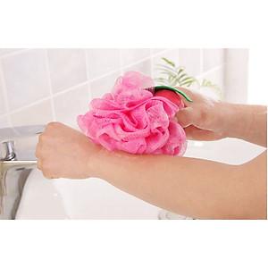 Bông tắm tạo bọt massage , tẩy tế bào chết [QC-Tiki]