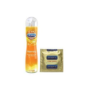 Gel bôi trơn Durex Play Warming 100ml / chai + Tặng bao cao su INNOVA Siêu gai [QC-Tiki]