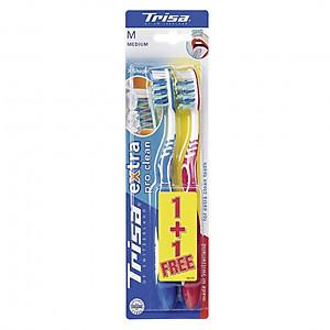 Vỉ Đôi Bàn Chải Đánh Răng Trisa Extra ProClean [QC-Tiki]