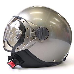 Mũ bảo hiểm 3/4 SUNDA 103D - phù hợp với người vòng đầu hơi nhỏ - Ghi bóng tem