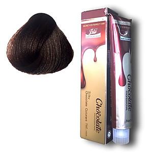 Thuốc nhuộm tóc màu nâu Socola tone lạnh (5.77) 123 Chocolate Color Cream 100ml [QC-Tiki]