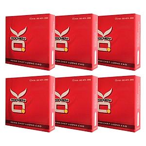 Bộ 6 Hộp Bao Cao Su Ok Rockmen Không Mùi (3 Bao) [QC-Tiki]