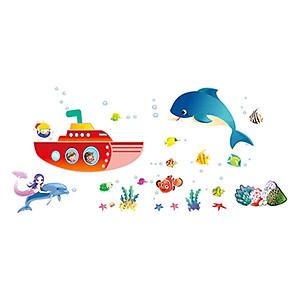 Decal đại dương xanh EB74