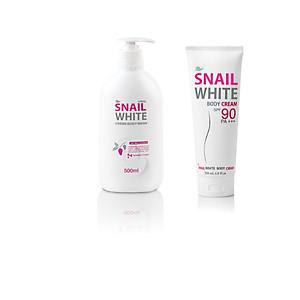 Combo sữa tắm và kem dưỡng trắng body [QC-Tiki]