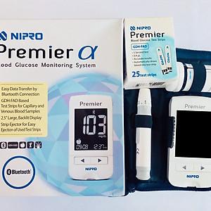 Máy đo đường huyết Nipro Premier α công nghệ Nhật Bản [QC-Tiki]