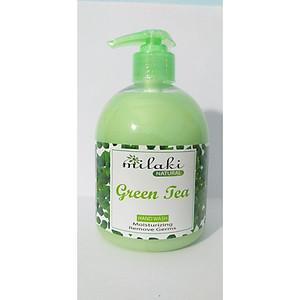 Sữa rửa tay Milaki Natural Green Tea hương trà xanh [QC-Tiki]
