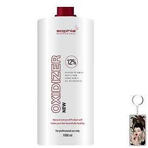 Oxy trợ nhuộm thảo dược 12% Sophia Oxydizer New Hàn Quốc 1000ml tặng kèm móc khóa - Nắp đỏ [QC-Tiki]