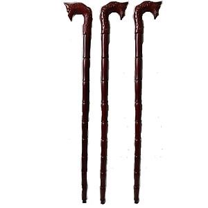 Combo Ba Gậy batoong bằng gỗ - đầu rồng dụng cụ hỗ trợ cho người già [QC-Tiki]