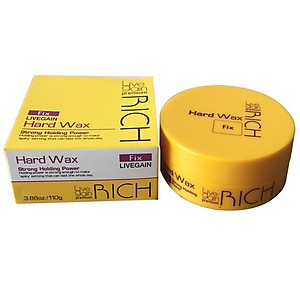 Sáp vuốt tóc siêu cứng Livegain Premium Rich Hard Wax Fix 110g [QC-Tiki]