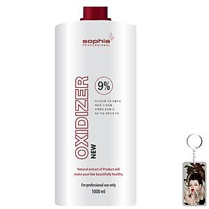 Oxy trợ nhuộm thảo dược 9% Sophia Oxydizer New Hàn Quốc 1000ml tặng kèm móc khóa - Nắp đỏ [QC-Tiki]