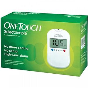 Combo Máy Đo Đường Huyết Onetouch SelectSimple Johnsons & Johnson ( Tặng 10 que thử + 100 kim lấy máu + 100 miếng cồn khô) [QC-Tiki]