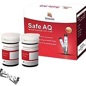 Combo hộp 50 que thử đường huyết và 50 kim lấy máu cho máy đo đường huyết Sinocare Safe AQ [QC-Tiki]