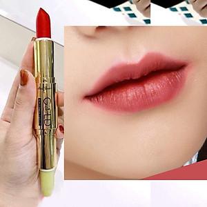 Son Thỏi Mini Garden Gold Matte Lipstick 2 in 1 Màu Nâu Đỏ [QC-Tiki]