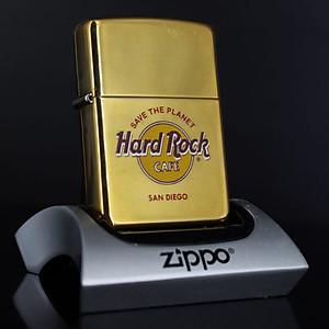 Bật Lửa Zippo La Mã 1996 - Cafe Hard Rock - Đồng Nguyên Khối - San Diego