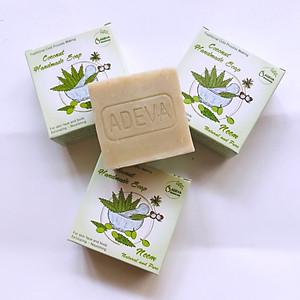 Xà phòng handmade lá Neem  - Set 3 soap Adeva Naturals (100 gr/ 1 bánh) - Xà phòng handmade với thành phần từ thiên nhiên, an toàn dịu nhẹ, cho làn da mềm mại - Không gây khô rít da [QC-Tiki]