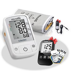 Máy Đo Huyết Áp Bắp Tay Microlife A2 Basic ( Kèm Bộ Đổi Nguồn ) + Tặng máy đo đường huyết Gluneo Lite Hàn Quốc [QC-Tiki]