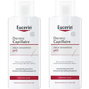 Combo 2 Chai Dầu Gội Dịu Nhẹ Cho Da Đầu Nhạy Cảm Eucerin Dermo Capillaire pH5 Mild Shampoo 250ml [QC-Tiki]