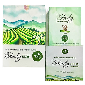 Thực phẩm chức năng Viên nén Giảm Cân Nấm Sbody Slim - Hộp 15 gói Tặng Detox [QC-Tiki]