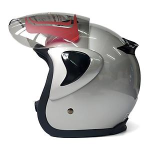 Mũ bảo hiểm ba phần tư GRS A360K - dành cho người có vòng đầu hơi lớn hoặc lớn - Xanh tím than nhám