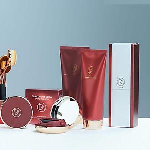 Sản phẩm trang điểm D&A ( Phấn nước COVER&GLOW DUAL LIGHT BEIGE , Kem lót dưỡng da Perfume Whitening Cream 02) [QC-Tiki]