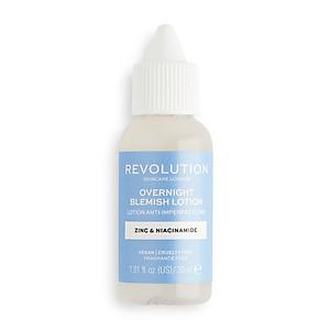 Chấm mụn BHA Revolution Skincare Overnight Blemish Lotion Zinc & Niacinamide 30ml [QC-Tiki]