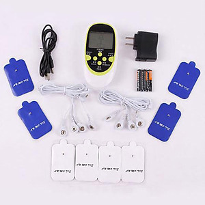 Máy massage xung điện trị liệu 8 miếng dán, 8 chế độ massage, xài pin tiểu [QC-Tiki]
