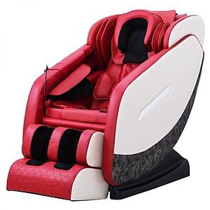 Ghế Massage toàn thân phiên bản 3D nâng cấp model KS-819 Da cá sấu- mầu đỏ [QC-Tiki]