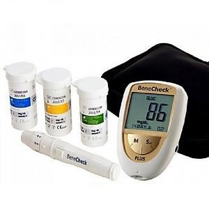 Máy đo đường huyết cholesterol axit uric 3 trong 1 Benecheck plus [QC-Tiki]