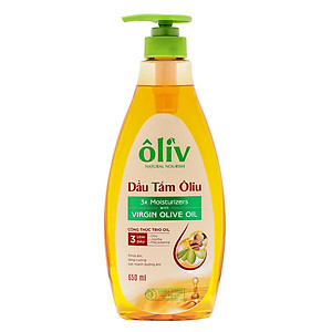 Dầu Tắm Ôliv Natural Nourish Virgin Olive Oil (650ml) [QC-Tiki]