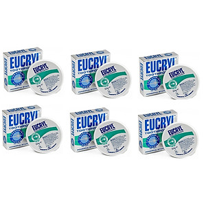 Bộ 6 hộp bột tẩy trắng răng EUCRYL 50g [QC-Tiki]