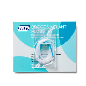 Chỉ nha khoa cho cầu mão răng Tepe Bridge - Implant Floss (5 cái) [QC-Tiki]