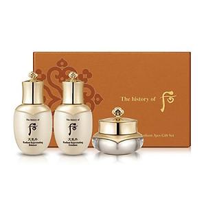 Bộ dưỡng tái sinh da Whoo Cheongidan Radiant 3pcs Gift Set 60ml [QC-Tiki]