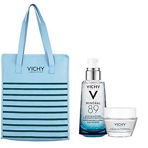 Dưỡng Chất Khoáng Cô Đặc Vichy Mineral 89 (50ml) + Tặng Kèm Aqualia Gel (15ml) + Túi Tote Vichy Cao Cấp [QC-Tiki]