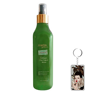 Xịt dưỡng tóc giúp tóc mềm mượt Sophia platinum Collagen Hair Repair Water Hàn Quốc 250ml tặng kèm móc khoá [QC-Tiki]