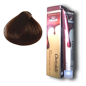 Thuốc nhuộm tóc màu nâu Socola (5.75) 123 Chocolate Color Cream 100ml [QC-Tiki]