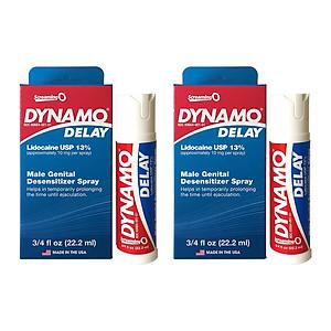 Bộ 2 Chai xịt Dynamo Delay Mỹ - tinh chất kéo dài thời gian không mùi vị nhẹ - ( 44 ml ) [QC-Tiki]