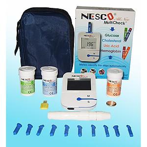 Máy đo đường huyết, mỡ máu, gút 3 trong 1 Glucose - Cholesterol - Uric Acid NESCO MultiCheck [QC-Tiki]