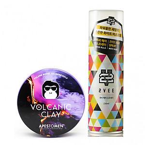 Combo sáp vuốt tóc Apestomen Volcanic Clay và Gôm xịt tóc 2VEE Spray [QC-Tiki]