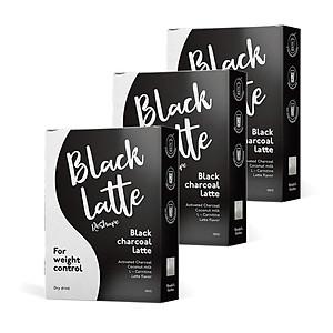 Combo 3 hộp thực phẩm bổ sung: Thức uống khô hỗ trợ giảm cân Dry Drink Black Latte [QC-Tiki]