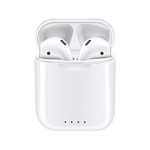 i88 TWS Bluetooth 5.0 Earphone Mini Wireless Earpod Touch Earbuds Earphones for iPhone Andorid - red
