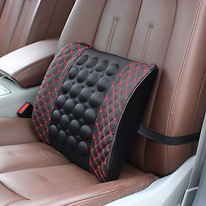 Gối tưa lưng có massage cho xe ô tô, xe hơi [QC-Tiki]