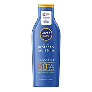 Kem chống nắng, chống nước Nivea Sun Protect & Moisture SPF 50+ Very Hight - 200ml [QC-Tiki]