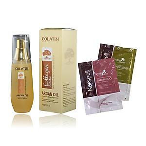 Tinh dầu dưỡng tóc COLATIN Argan Oil 40ML + Cặp gội xả gói Karseell 15mlx2 [QC-Tiki]