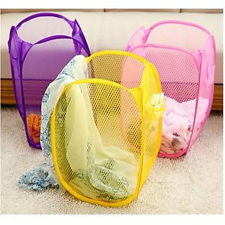 Giỏ lưới đựng quần áo bần hoặc đồ chơi rất đa năng cho gia đình(giao màu ngẫu nhiên) - hình 1