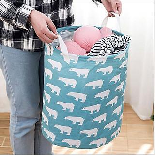 Sọt vải đựng quần áo đồ chơi đồ dùng hình thú xinh xắn - hình 3