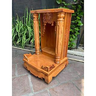 Bàn thờ thần tài gỗ gõ đỏ Cột Trơn 48 x 81cm BTG5081TD - hình 2